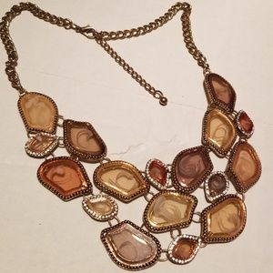 Bronze and Gold Necklace